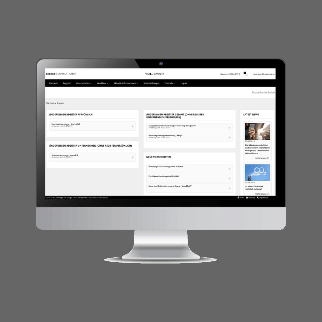 Screenshot RGC Manager Aktualisierungsdienst