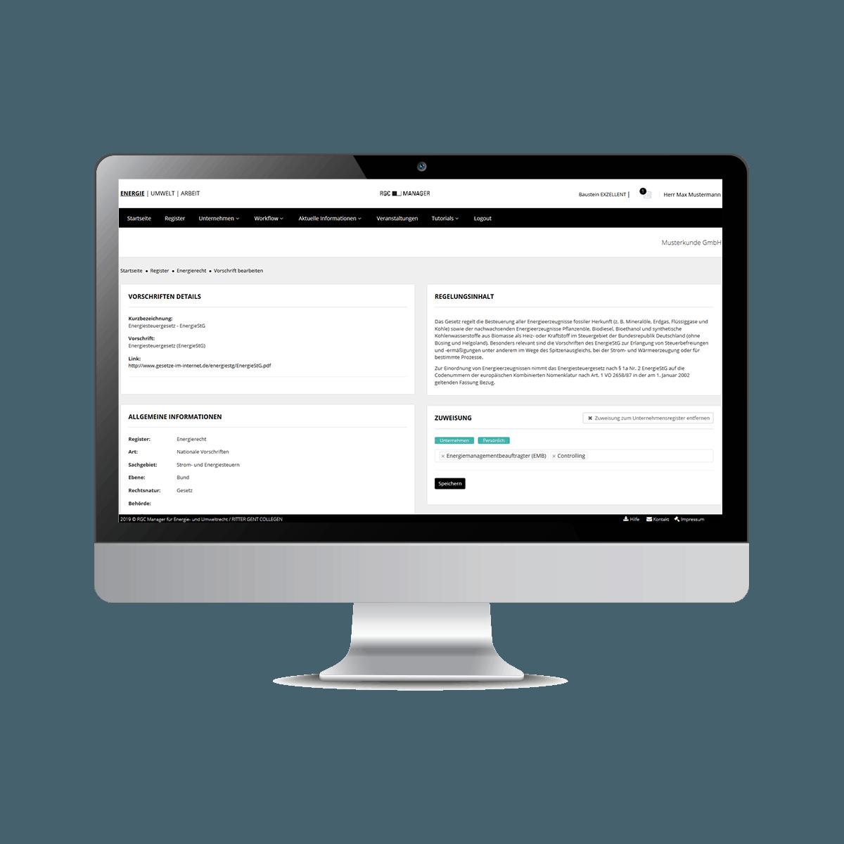 Screenshot RGC Manager Register