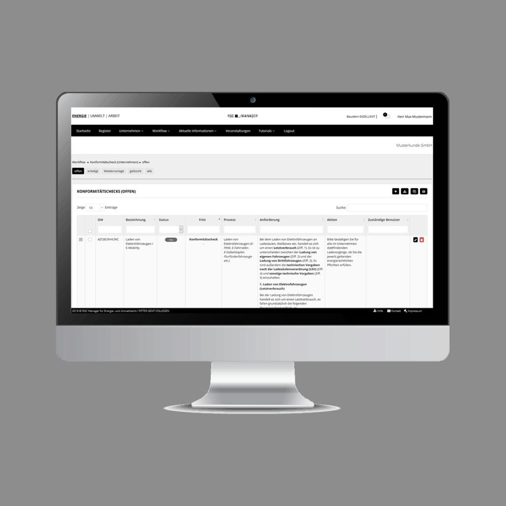 Screenshot RGC Manager Workflow